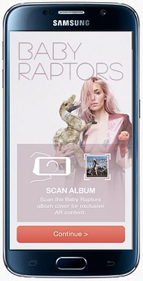 Baby Raptors Augmented Reality App for Samsung Galaxy S6