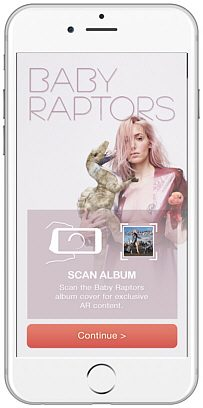 Baby Raptors Augmented Reality App for iPhone