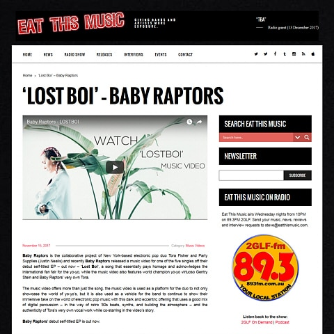 Baby Raptors - Press - Eat This Music - LOSTBOI 480 x 480