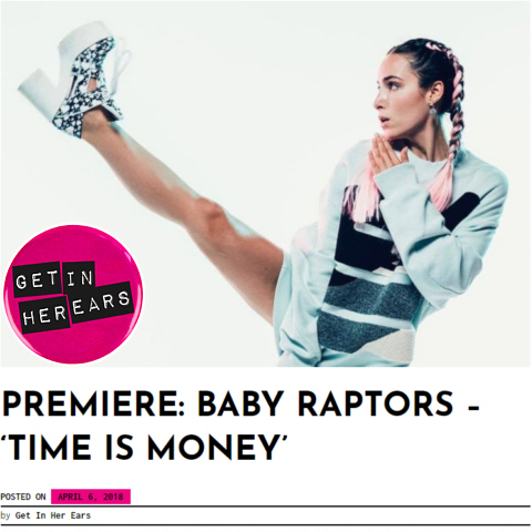 Get in Her Ears Baby Raptors Time Is Money